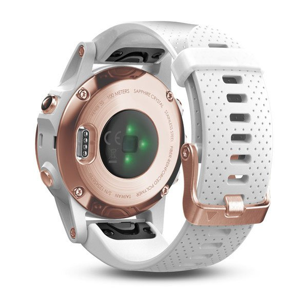 Garmin Fenix 5S Rose Goldtone Sapphire with White Band FN5SRGSW