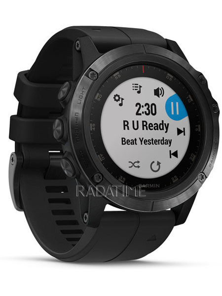 Garmin Fenix 5X Plus Sapphire, Black with Black Band FN5XPSBB
