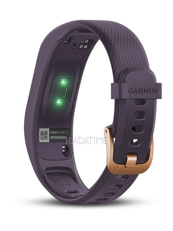 Garmin Vivosmart 3 Purple/Rose Gold Buckle, Regular VIVO3PRGBR